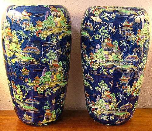 Castle Close Antiques Large Pair Of Royal Winton Vases China