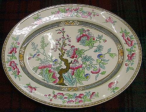 Castle Close Antiques Wedgewood Indian Tree Ashet C1860 China