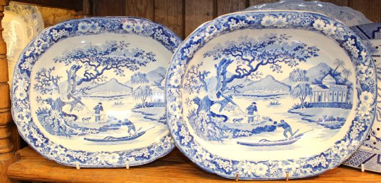 Blue & White pie / vegetable Dishes
