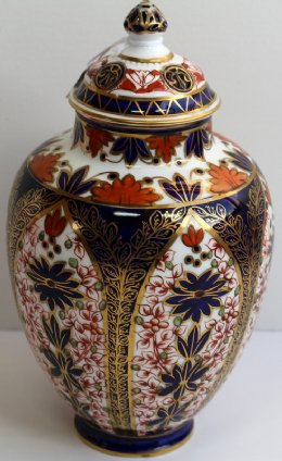 Crown Derby Jar - C1880