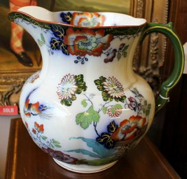 Large 19th cent Masons Ironstone Ewer