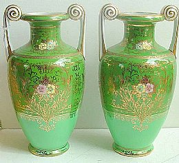 Large Pair of Noritake Vases