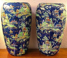 Large Pair of Royal Winton Vases