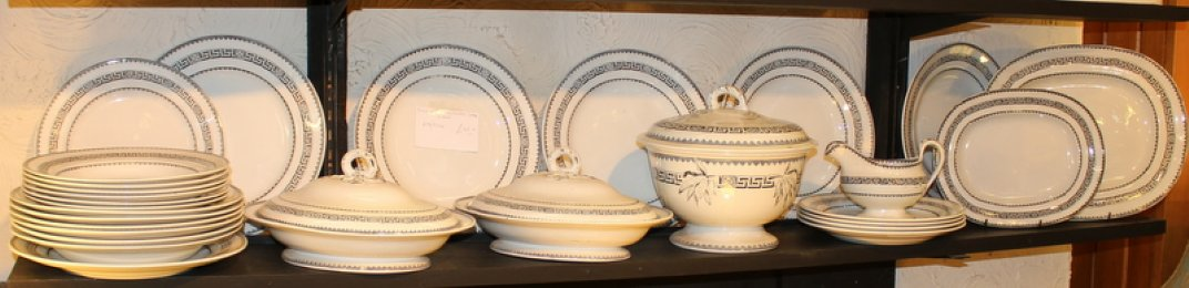 Part Scottish Pottery Dinner Set