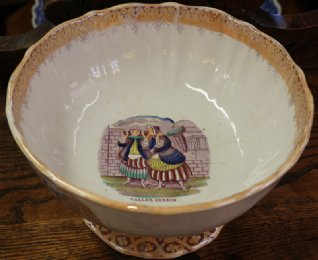 Pottery Punch Bowl