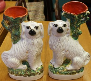 "Pr 19th Cent ""Wally Dog"" Vases"