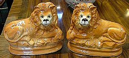 Scottish Pottery Lions