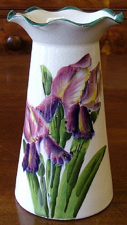 """Wemyss Ware"" vase with Iris design"