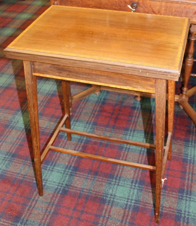 castle close antiques fold over games table furniture