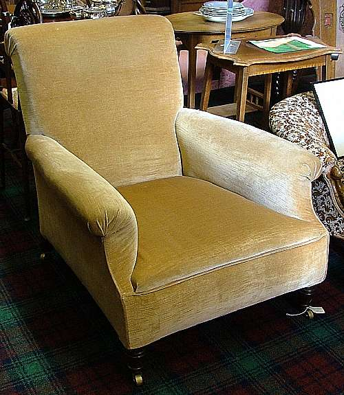 Castle close antiques large overstuffed victorian for Overstuffed armchair