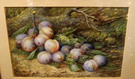 Oil Painting of Damsons